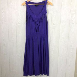 SPENSE Royal Purple Cinched Waist Knit Midi Dress
